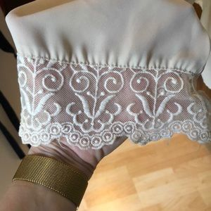 Tops - Cream Sheer Blouse